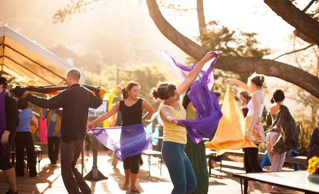Dancing Workshop at the Esalen Institute in Big Sur, California.