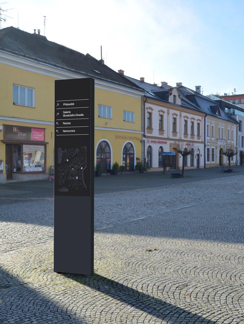 wayfinding system - for Uherské Hradiště