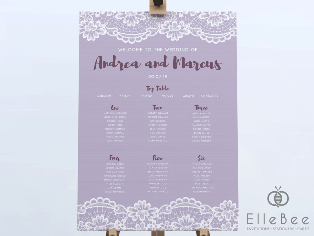 Checklists for weddings are huge and sometimes there are things that get forgotten - if you're in a pinch and need a table plan for your big day, we can typically get this sent to you within 2 weeks of ordering.