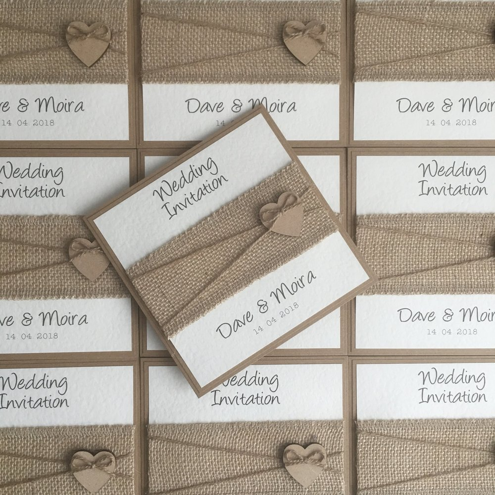 Freya - Wooden Heart Wedding Invitations