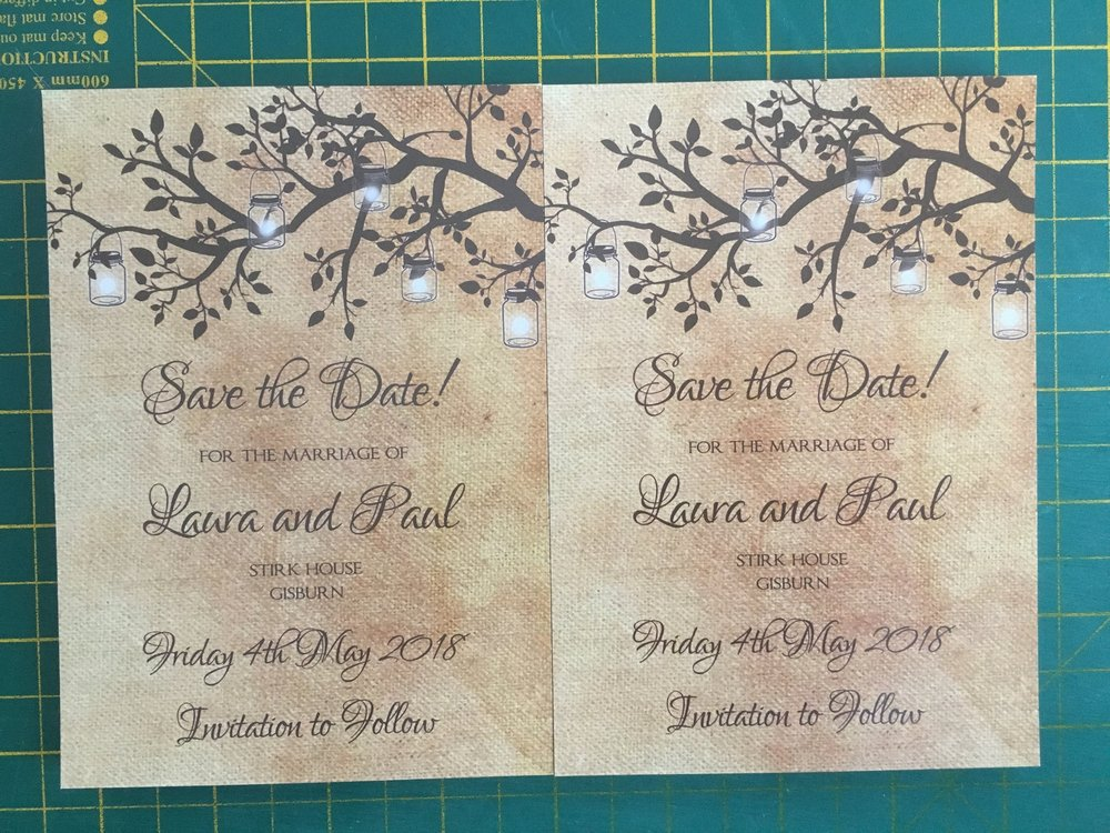 Poplar - Rustic Save The Dates
