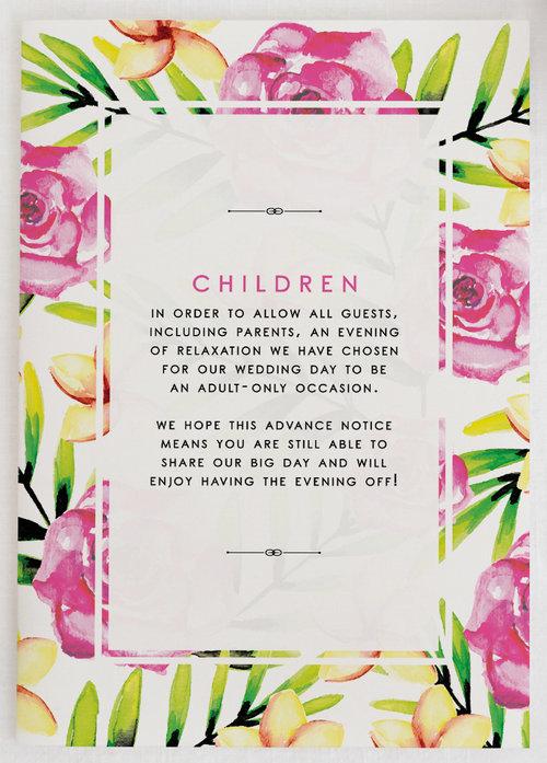 Wedding invitation etiquette children elle bee worcester chiswick kidsg filmwisefo