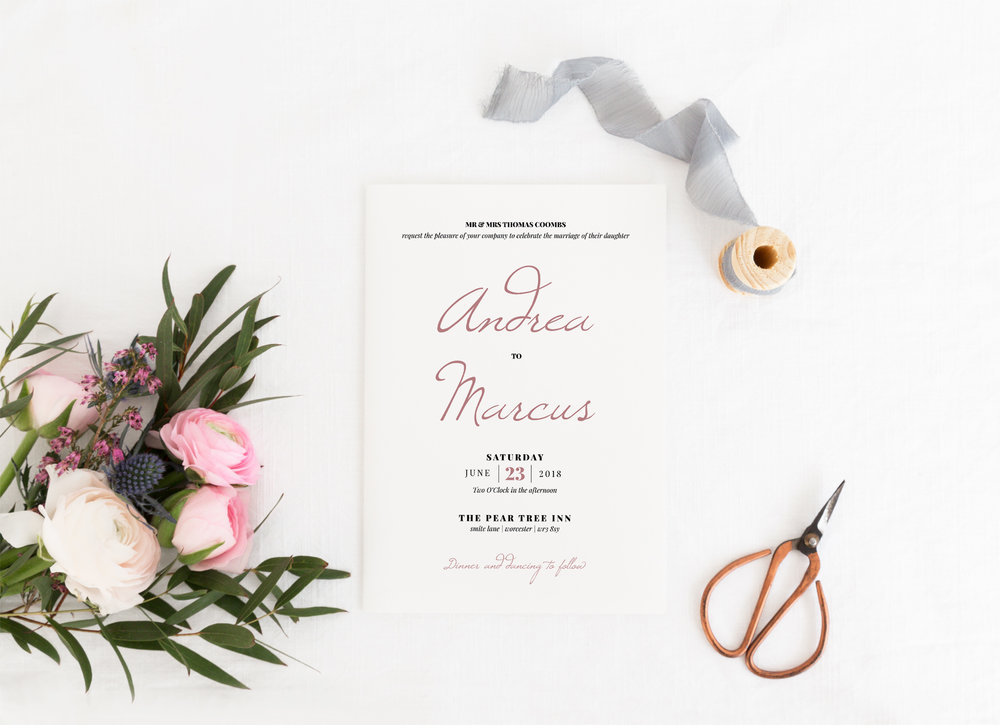 Knightsbridge - Our new Knightsbridge collection is a classical design for your invitations and stationery. Combining a gorgeous script-style font in a formal layout, the design can easily be tailored to a different colour scheme.