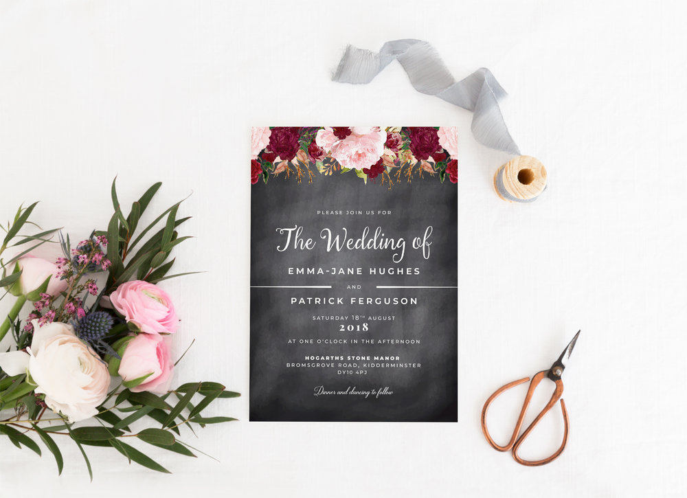 Invitation Collection - Our invitations are available in four options; the invitation card on its own (perfect for evening guests), with an additional RSVP card, bound with a decorative paper belly band, or with an additional information card - perfect for all weddings, big and small.