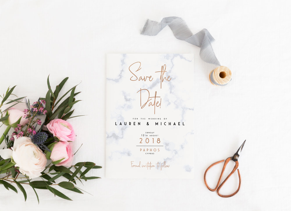 Save The Dates - Our Save The Date cards are single-sided, A6 in size and printed on either hammered cardstock or smooth cardstock that's magnetised on the reverse - perfect for guests to pop onto the fridge!