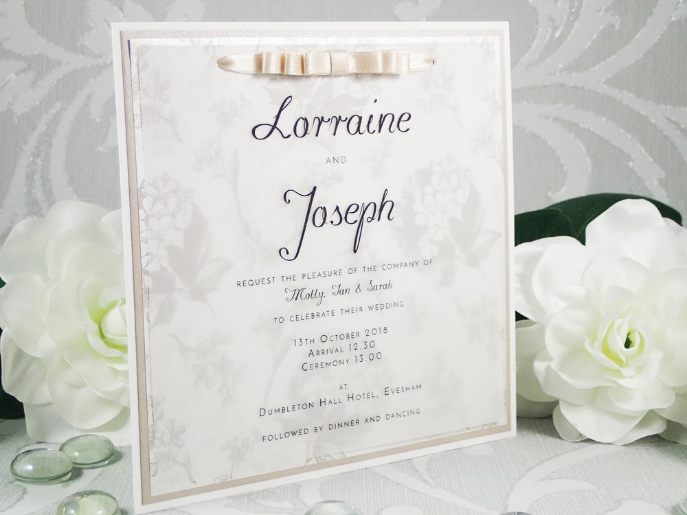 Themis - Luxury Bespoke Collection - priced from £3.50Our new Themis collection uses gorgeous and delicate vellum paper for a beautifully vintage and unique design of invitations and stationery.