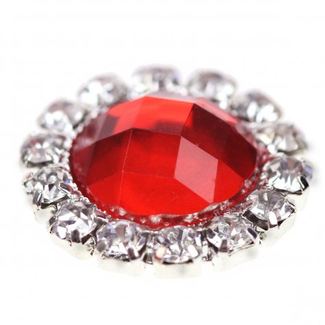 Circle Gem Poppy Red
