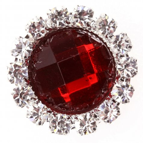 Circle Gem Regal Red