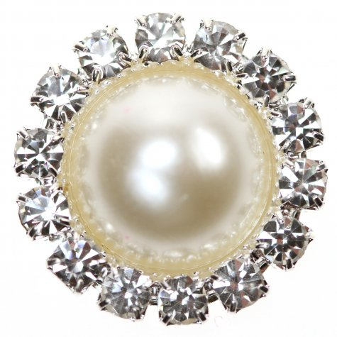 Diamante Circle Pearl