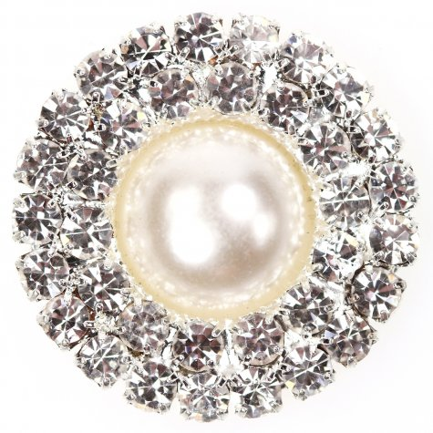 Diamante Circle Pearl circle duo