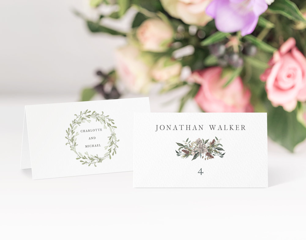 Oxford Place Card in jet black