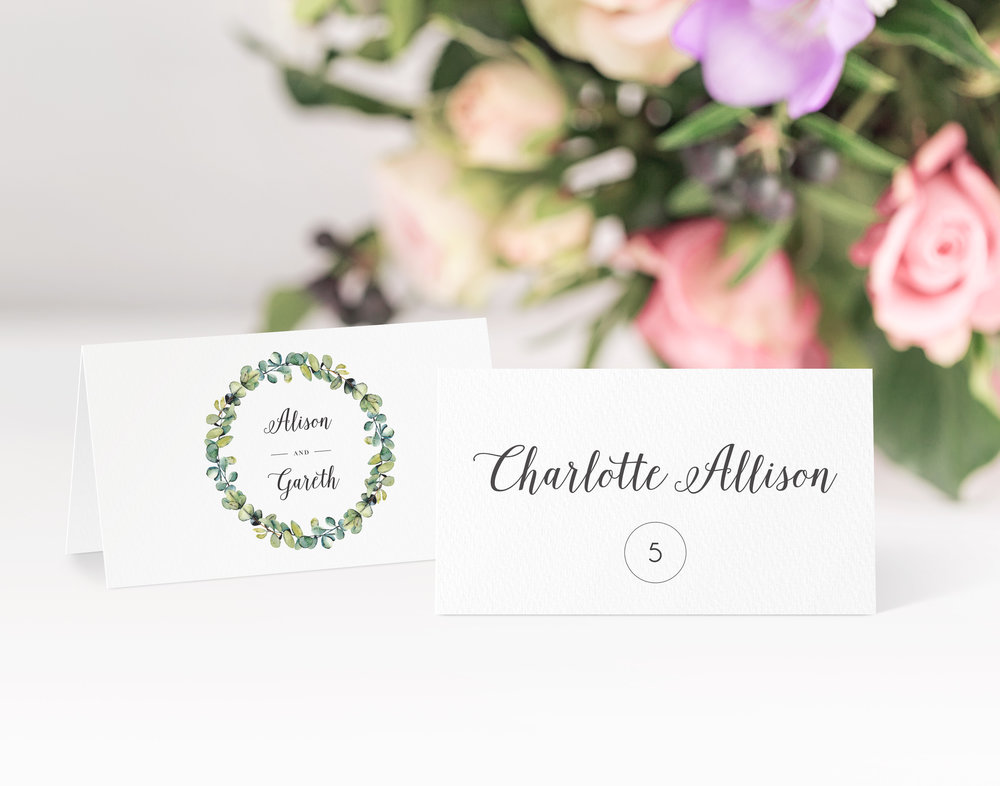Hampstead Place Card in Jet Black