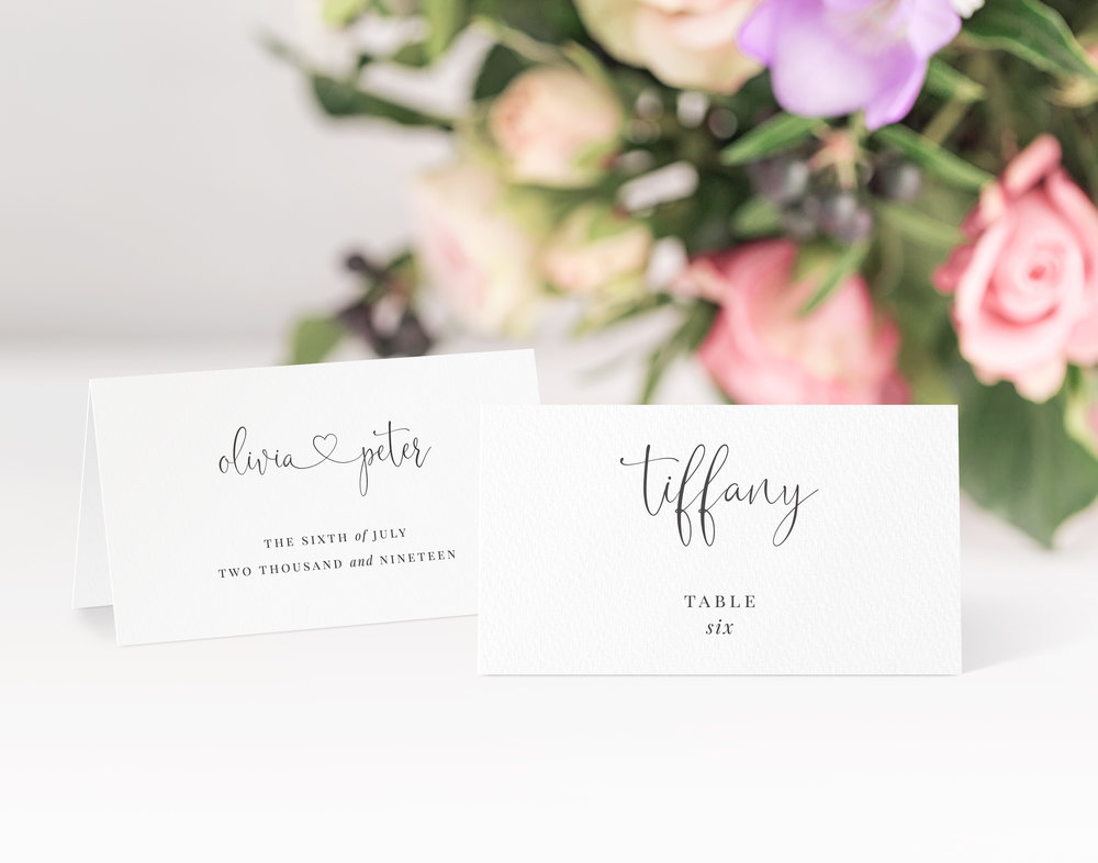 Finchley Place Card in Jet Black
