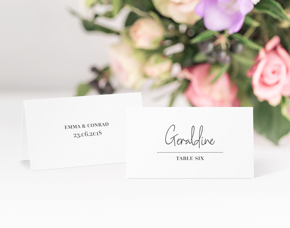 Chancery Lane Place CArd in Jet Black