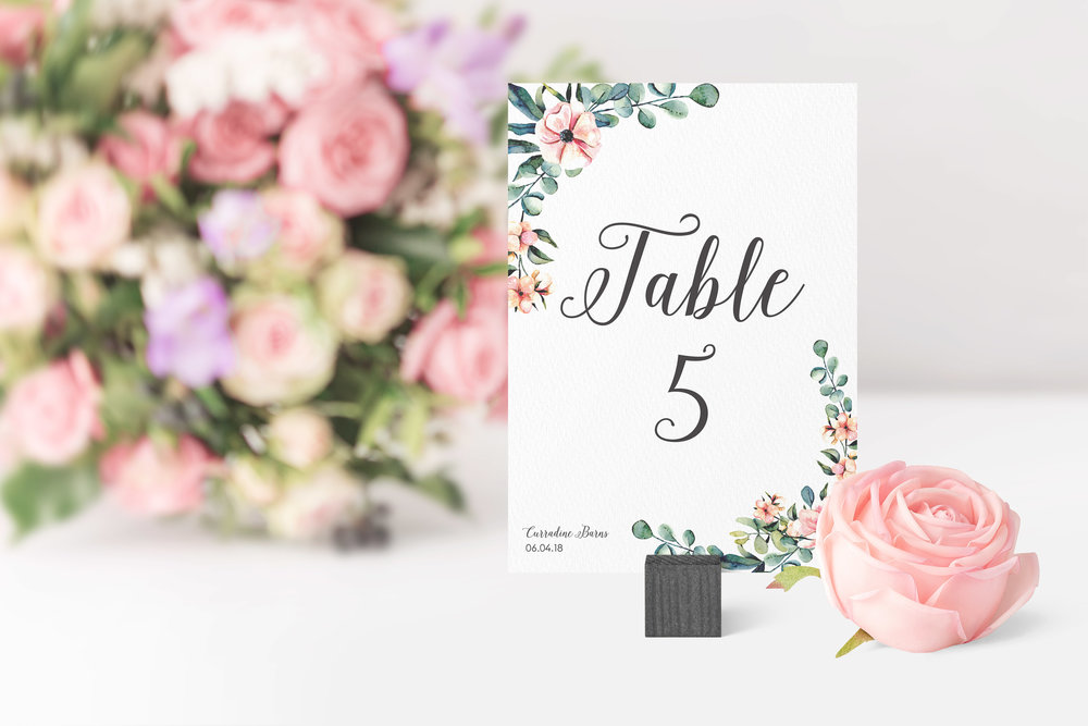 Hampstead Table Number in Jet Black