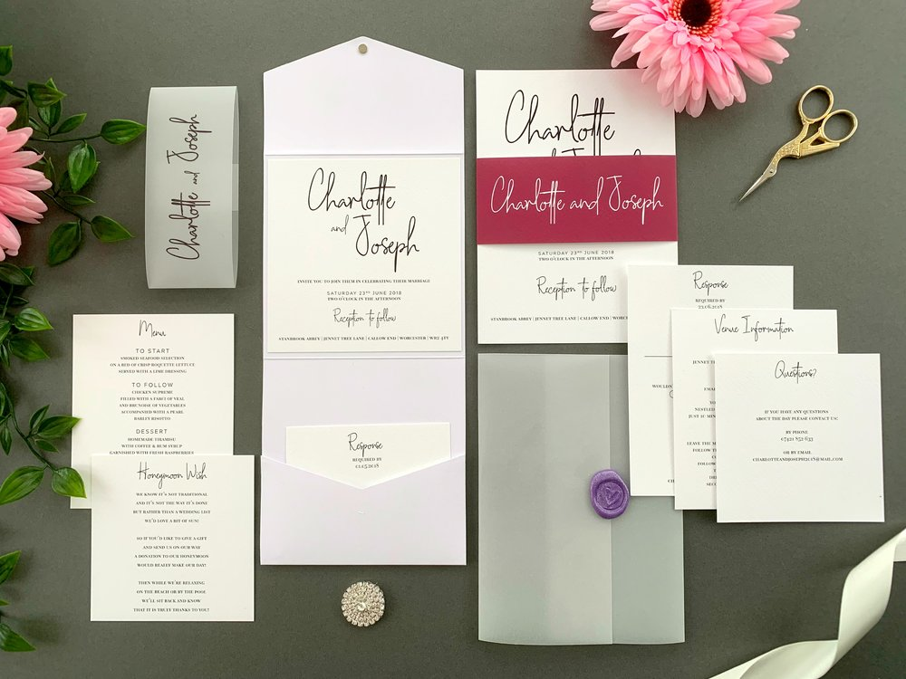 Chancery Lane Pocketfold and Invitation Suites
