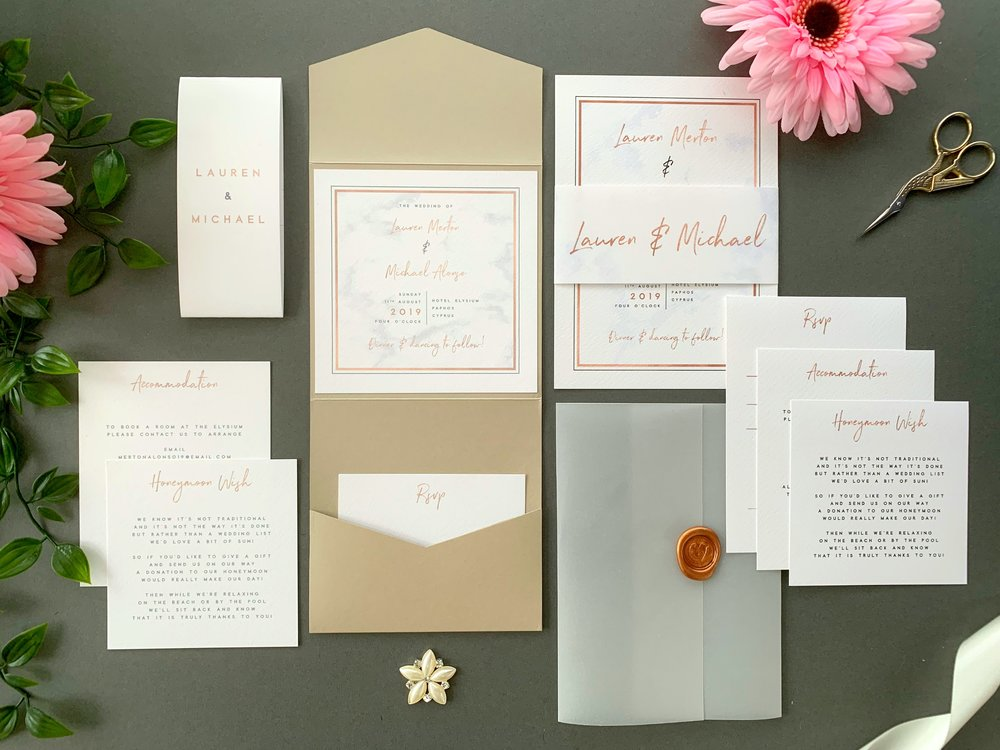 Chiswick Pocketfold and Invitation Suites