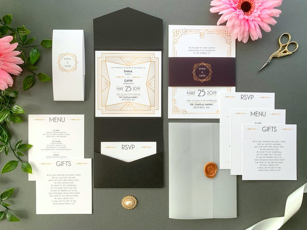 Earl's Court Pocketfold and Invitation Suites