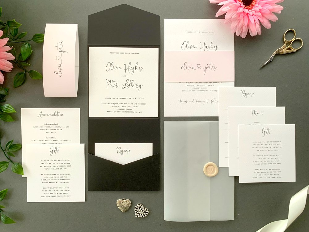 Finchley Pocketfold and Invitation Suites