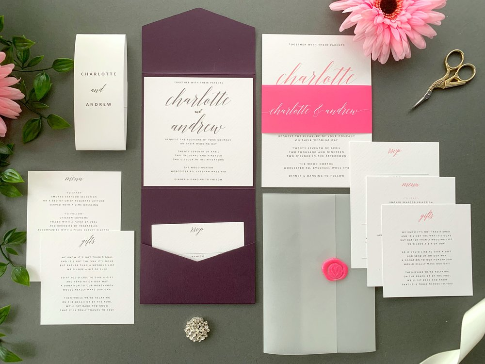 King's Road Pocketfold and Invitation Suites