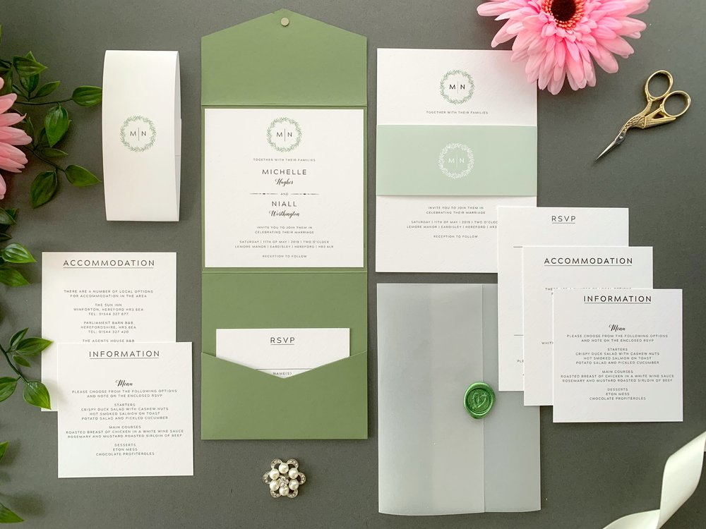 Mansion House Pocketfold and Invitation Suites