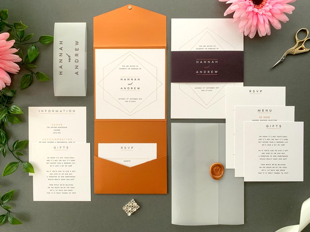 Mayfair Pocketfold and Invitation Suites