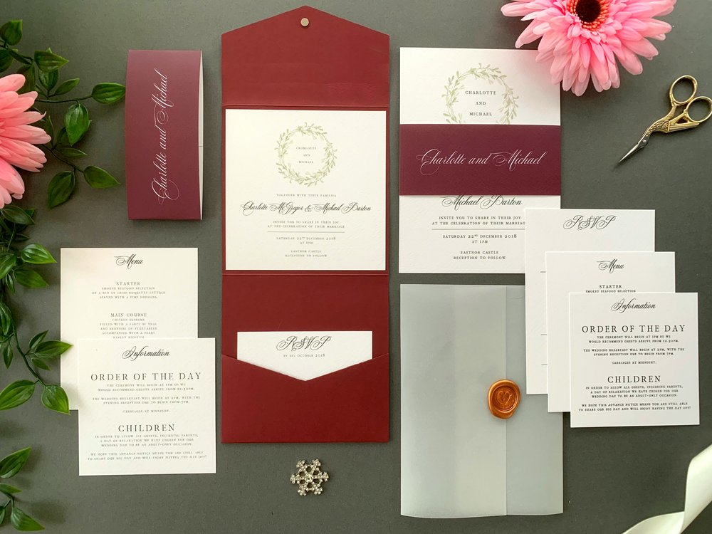 Oxford Pocketfold and Invitation Suites