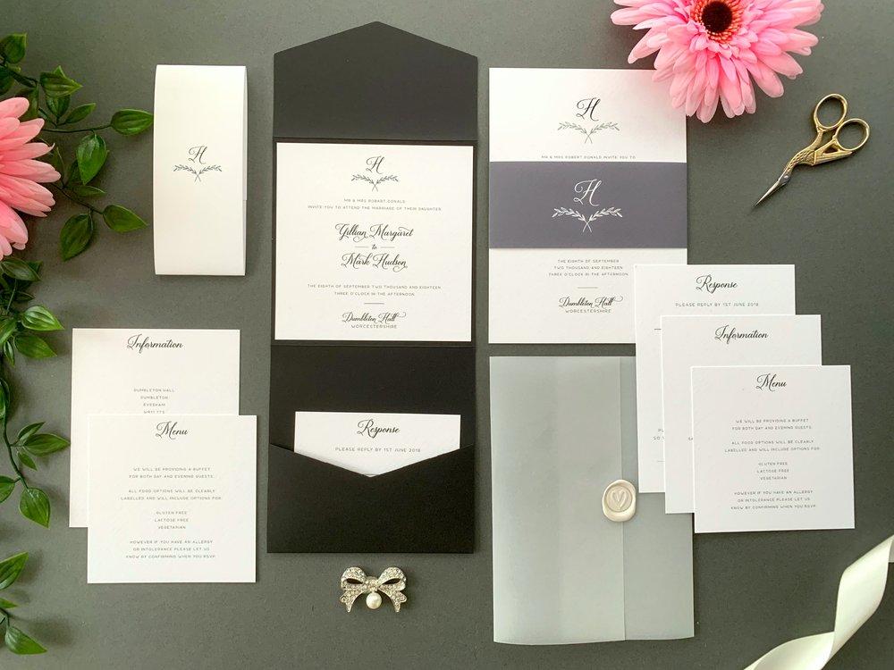 Paddington Pocketfold and Invitation Suites