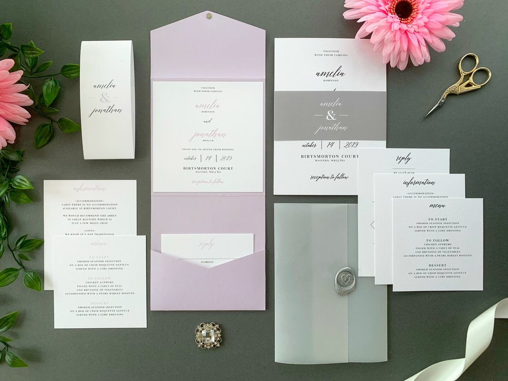 Westminster Pocketfold and Invitation Suites