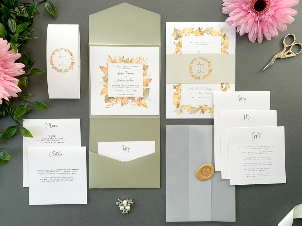 Richmond Pocketfold and Invitation Suites
