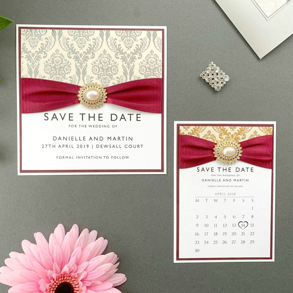 Aphrodite Save The Date Card and calendar
