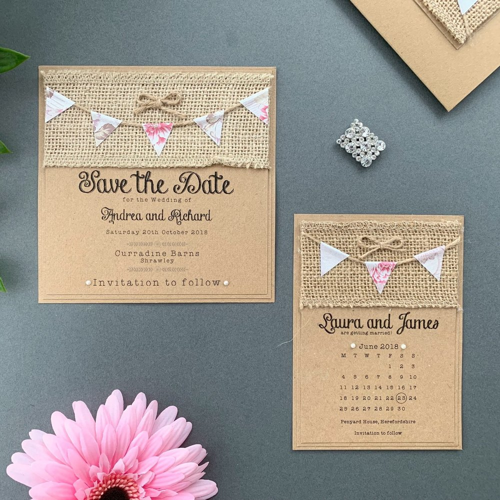 Aurora Save The Date Card and calendar