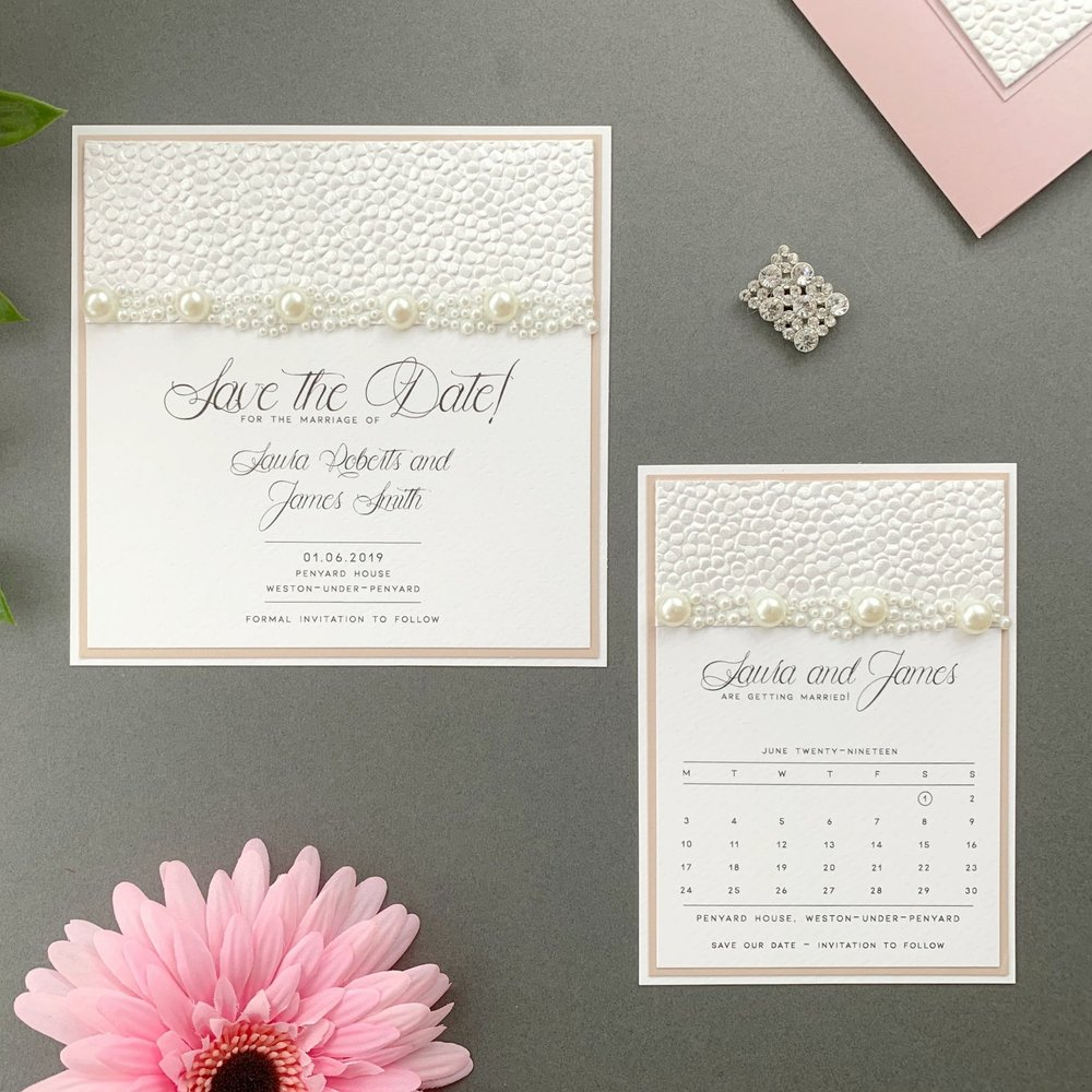 Calypso Save The Date Card and Calendar