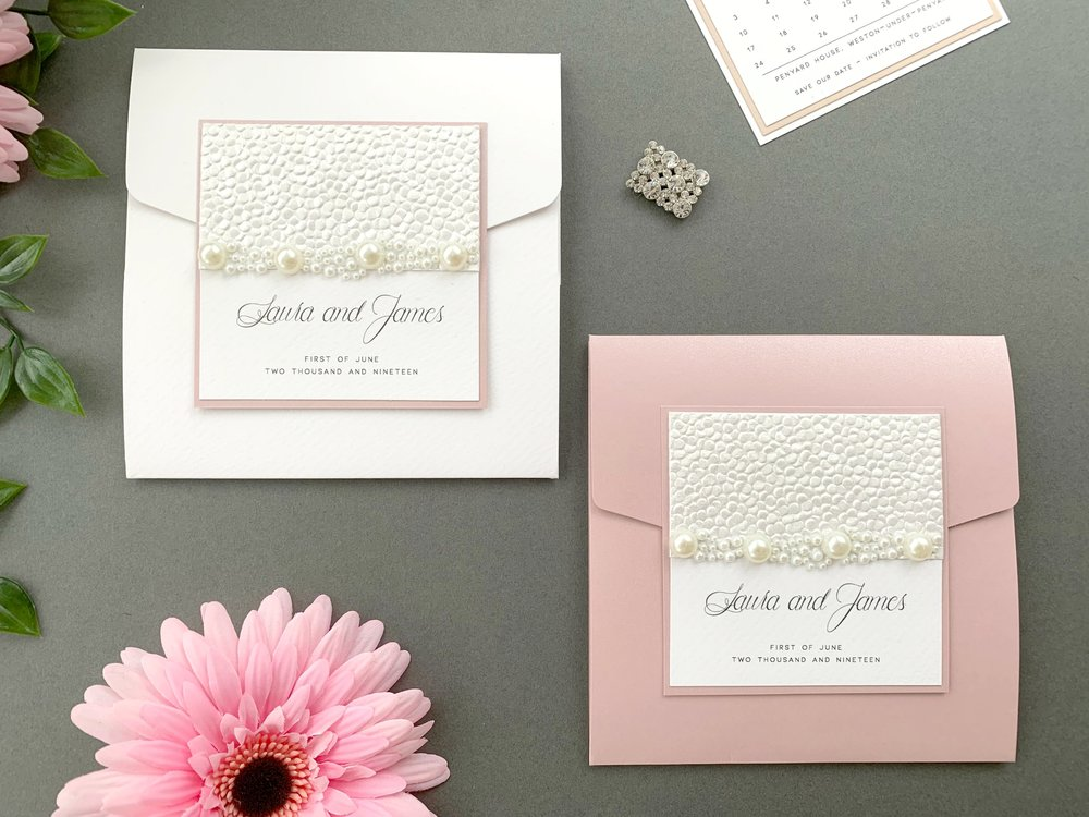 Standard & Coloured Pocketfold Invitation