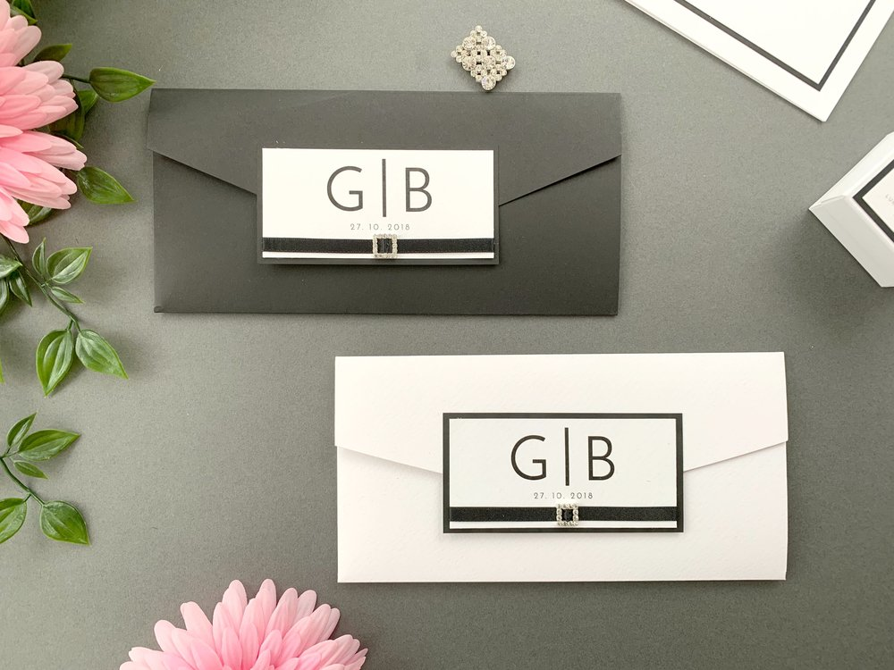 Coloured and Standard Pocketfold Invitations