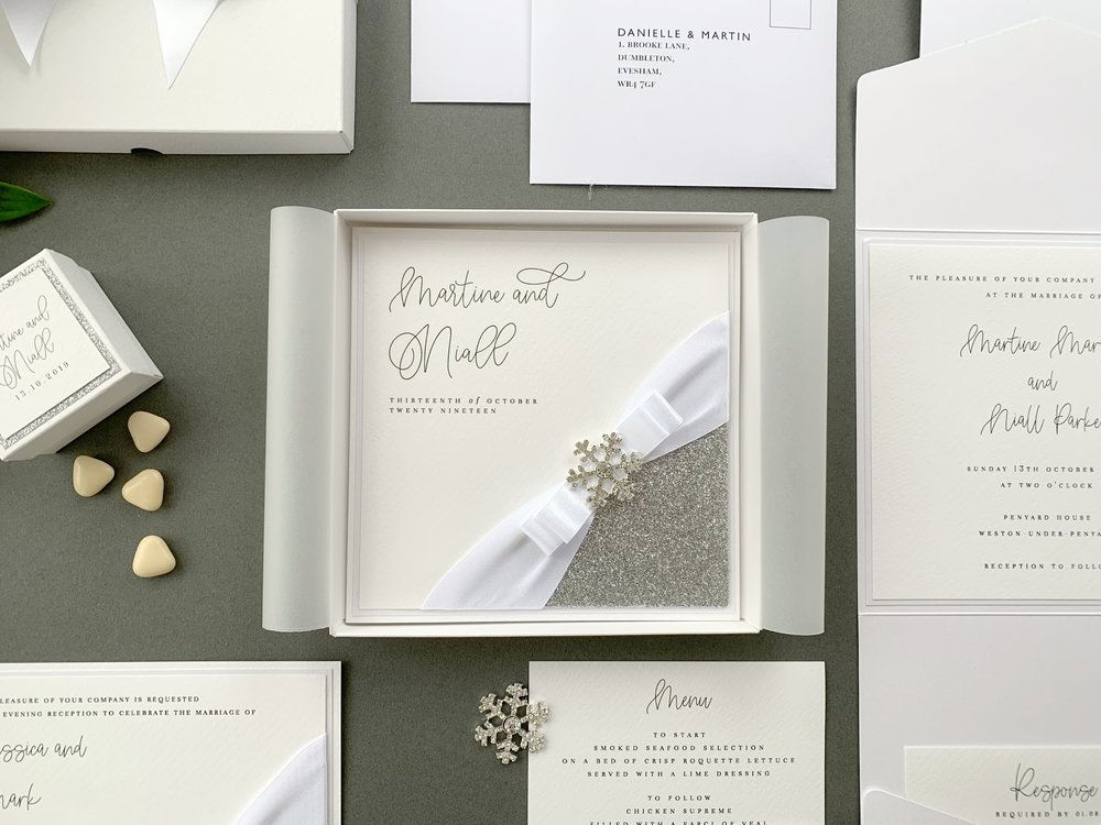 Folded Invitation (with Presentation Box)