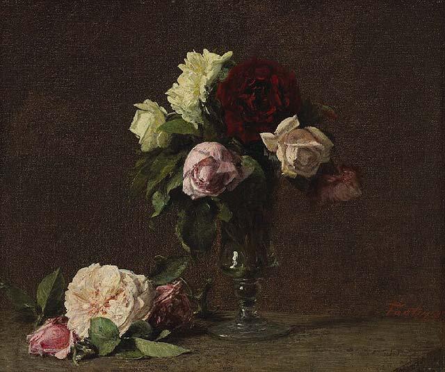 Henri Fantin-Latour, Bouquet of Roses , 1885
