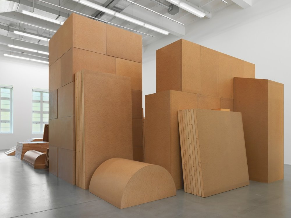 Imi Knoebel, Raum 19 III, 1968/2006, Batterie 2005, Exhibition view Museum Haus Konstruktiv, 2018