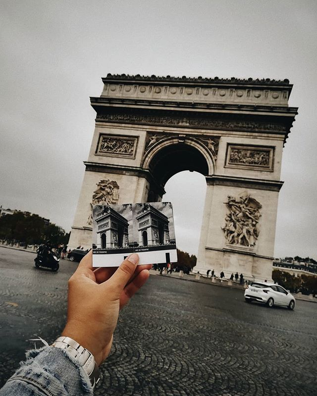 Rain, cloudy and almost no car traffic around the Arc de Triomphe. Was that the most perfect day or what?