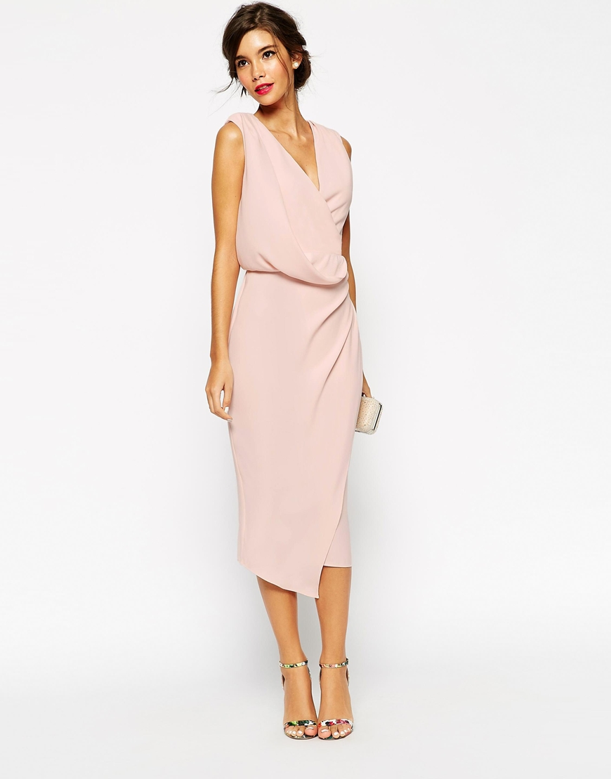 ASOS Wedding Wrap Drape Midi Dress $120.00 NZD