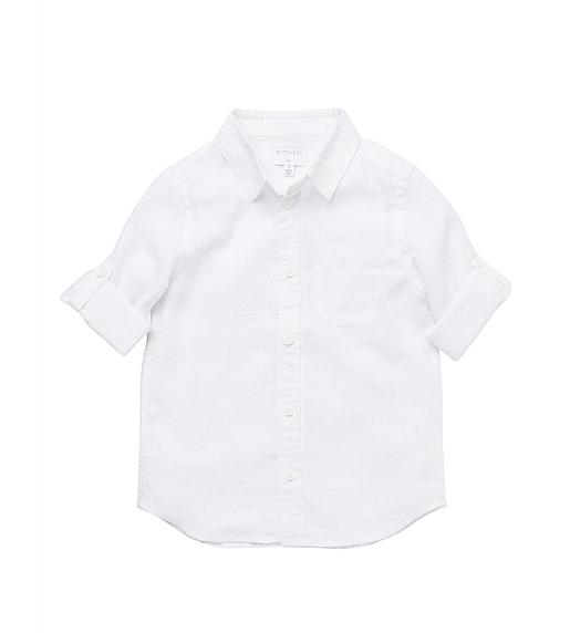 Witchery Kids Solid Linen Shirt $59.90