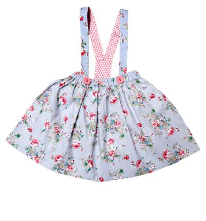 Oobi Little Dove Blue Floral Skirt $52.95