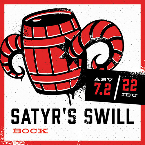 Brewed in a traditional German style, this deceiving bock drinks like a lighter beer, but conceals a dark nature. Just like its namesake, the Satyr's Swill lures you in with a hint of sweetness before revealing its true potency. Feel free to let the flavors overtake you, but be cautious…the Satyr seeks your soul.