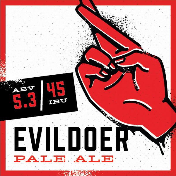Most of our beers may fall neatly into categorizations of Saint and Sinner…but some tend to defy expectations. Evildoer is one of those brews. With the first taste, you think you're getting an ale that's heavy on the hops. But when the surprising lightness and citrusy aromas hit you, you see that the Evildoer is a misunderstood soul – after all, even Saints can give in to the dark side now and then.