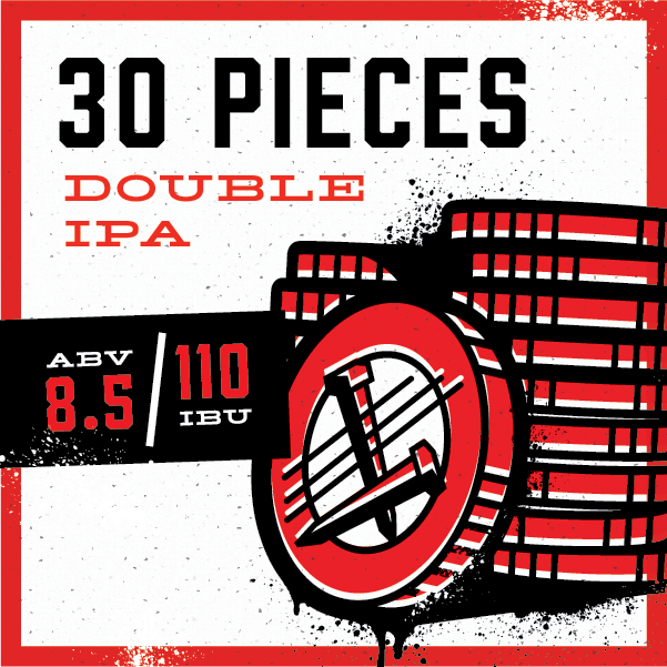 As denizens of the back pew, we're not known for doing things by the book, so doubling down on a trendy favorite isn't usually our style. Then again, we just can't pass up an opportunity to make something great, so with this rich, bittersweet, complex double IPA, we've earned our 30 pieces of silver.