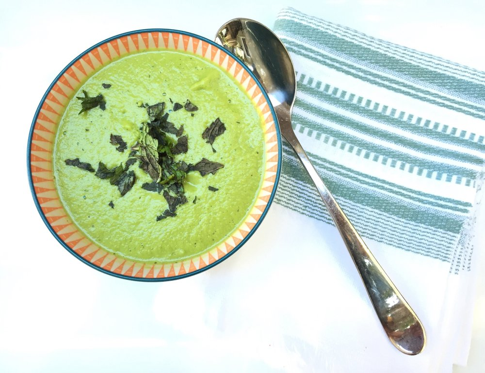 MINT PEA SOUP  -
