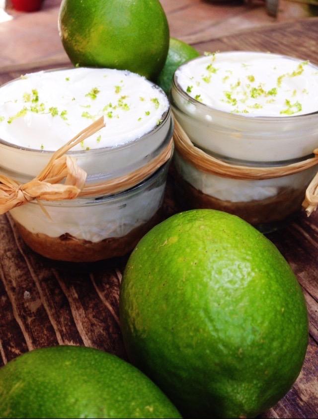 Mini Key Lime No-Bake Pies -