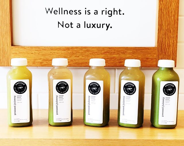 Wellness is a right not a luxury. 💚🙏🏼 Amen to that.  I think we get caught up in the guilt and shoulda's and miss the important message. We have been gifted with this magnificent body and it's up to each of us to honor and protect, in sickness and health til death do part us. Yea? Something like that.  Cheers 🥂 🍵 to the weekend and a lifetime of health and wellness.  I bought some celery the other day thinking I'd juice it and drink some every morning.  Someone told me that was a thing. Than further research- cause that's what I love doing, learning about the #medicinalbenefits of food: ~Calcium, folate and vitamin k, liver detox, boost proper thyroid function, are just a few reasons to indulge in these green stalks. 💚  I ended up using my celery for my yummy egg salad but than I saw this great deal and bought 5 Celery juices @pressedjuice for $20 bucks. So I decided to try the #celeryjuicechallange So far I like it.  It's been a nice change up guzzling a juice before coffee ☕️ not that I'm giving up my one cup a day but switching the line-up is good for me. 💚🙏🏼 #thefoodathlete ™ 💚💪🏼🥒