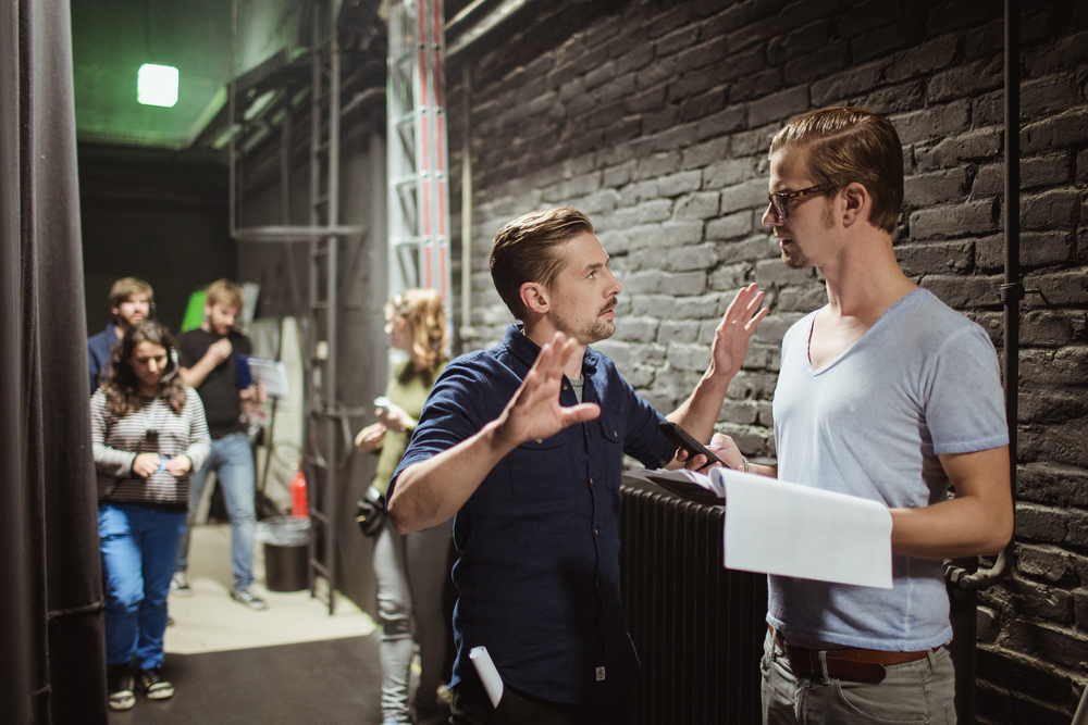 "Joko and Klaas behind the scenes of their TV Show ""Circus HalliGalli""."