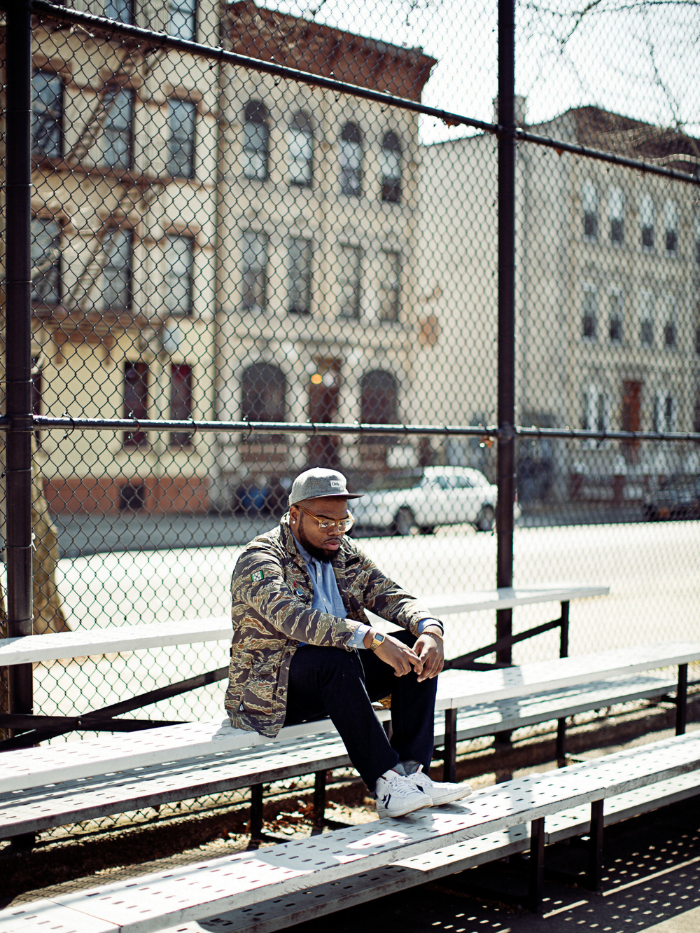 Rapper Fresh Daily in Bedford Styvesant, Brooklyn.